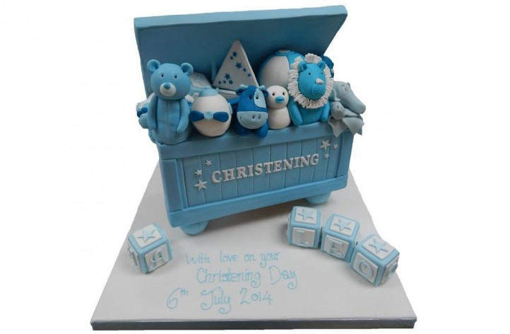 Christening Toy Box Cake