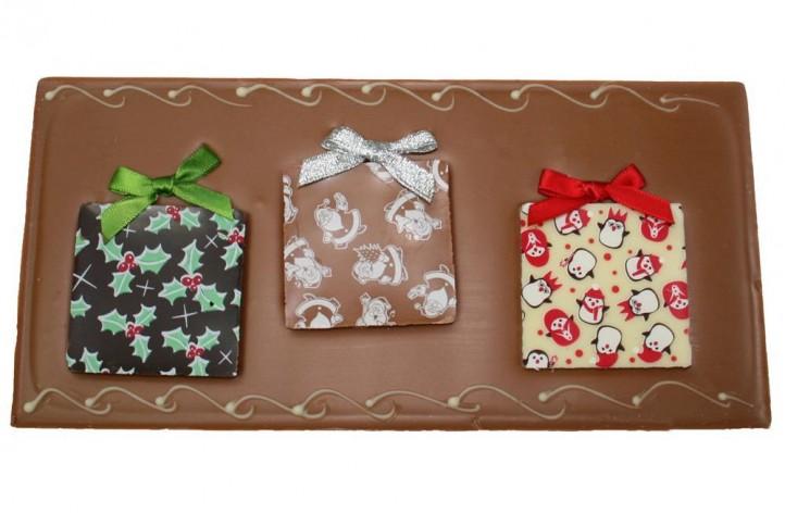 Christmas Present Large Chocolate Bar