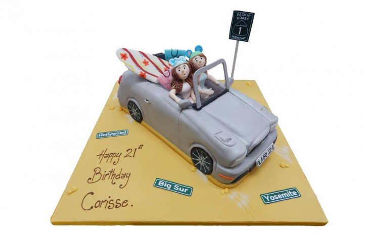 Convertible Car with Figures