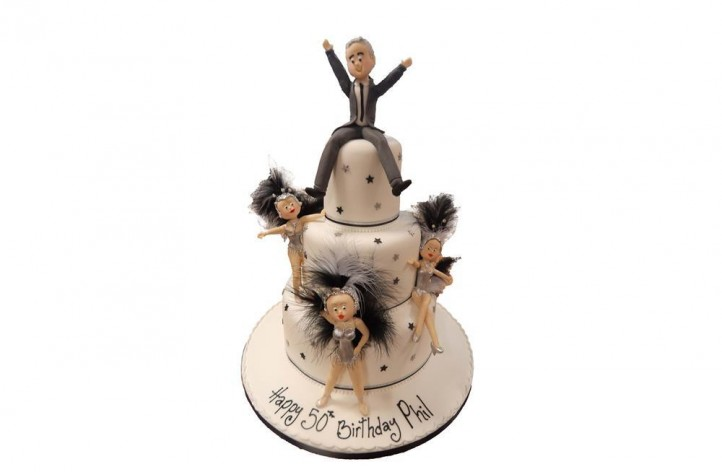 Dancing Girls Tiered Cake