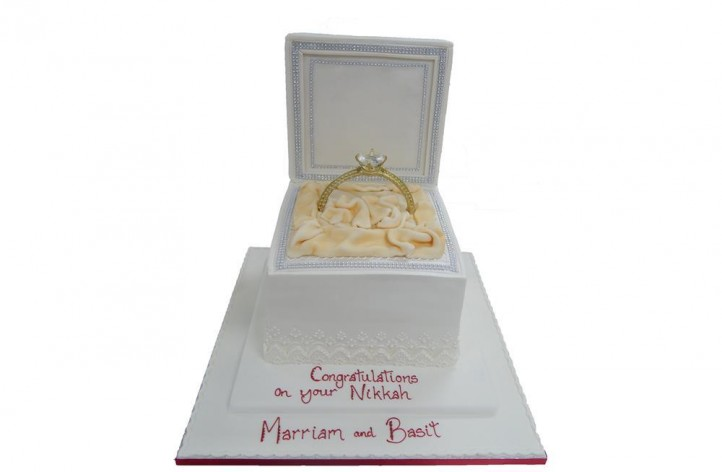Diamante Engagement Box Cake