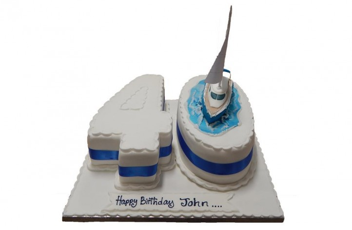 Double figure Boat Cake