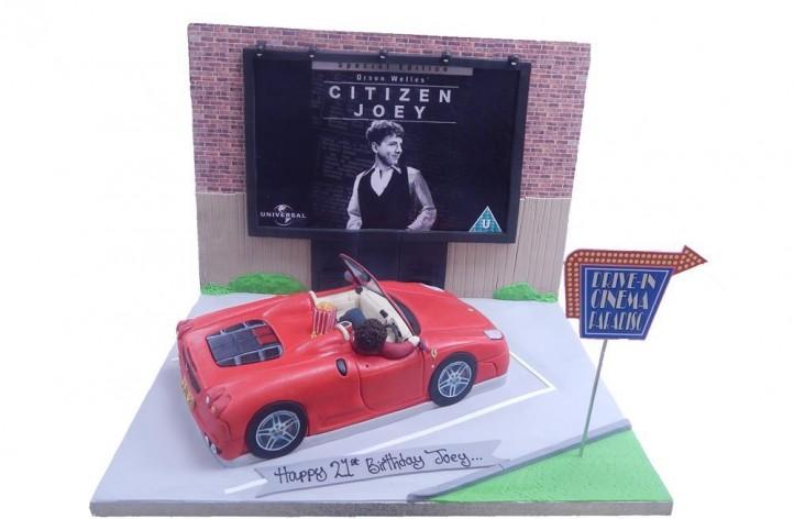 Drive In Cinema Cake