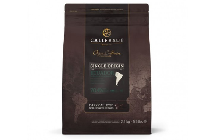 Barry Callebaut Dark 70% Ecuador Chocolate Callets 2.5kg