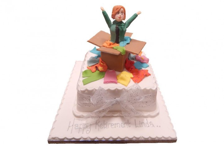 Figure in a Box Cake