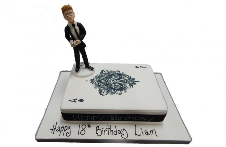 Figure on a Playing Card Cake