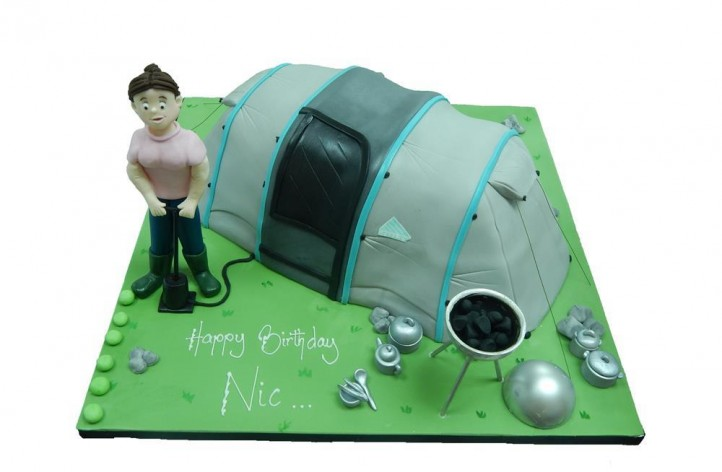 Figure & Tent Cake