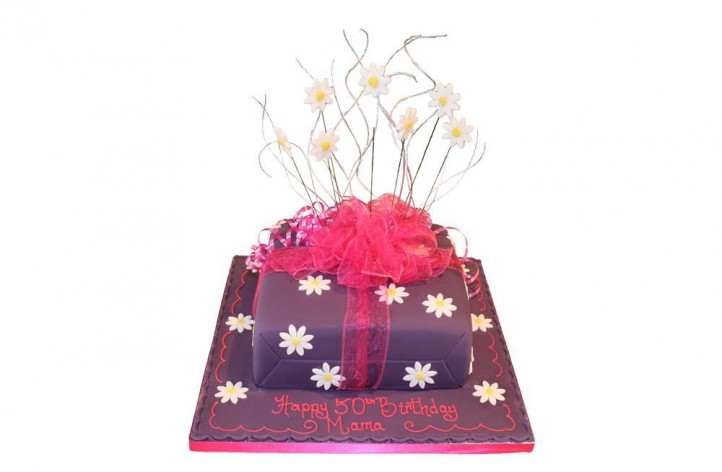 Flower Present Cake