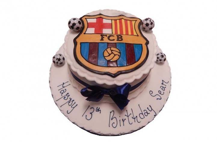 Football Crest Cake