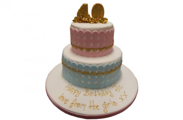 Glitter Discs Tiered Cake