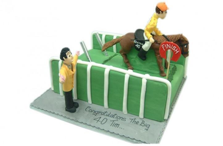 Horse Racing Scene