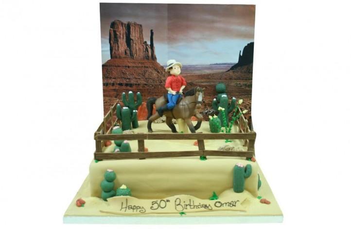 Horse Riding - Western Scene