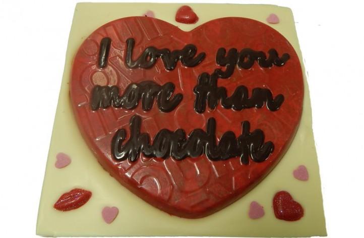 I love you more than chocolate bar