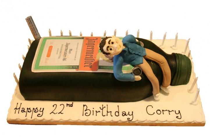 Jagermeister & Figure Cake