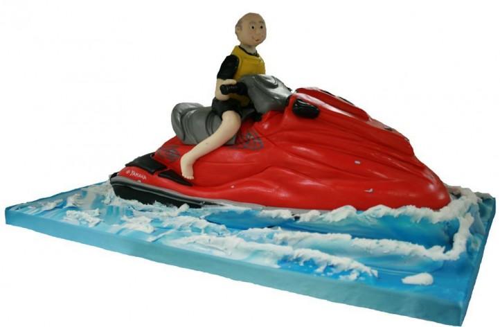 Jet Ski and Figure Cake