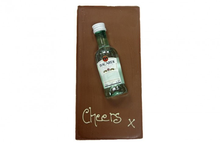 Large Chocolate bar with Alcohol - Bacardi