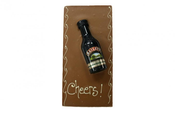 Large Chocolate bar with Alcohol - Baileys
