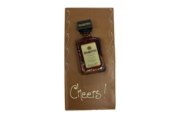 Large Chocolate bar with Alcohol - Disaronno Amaretto