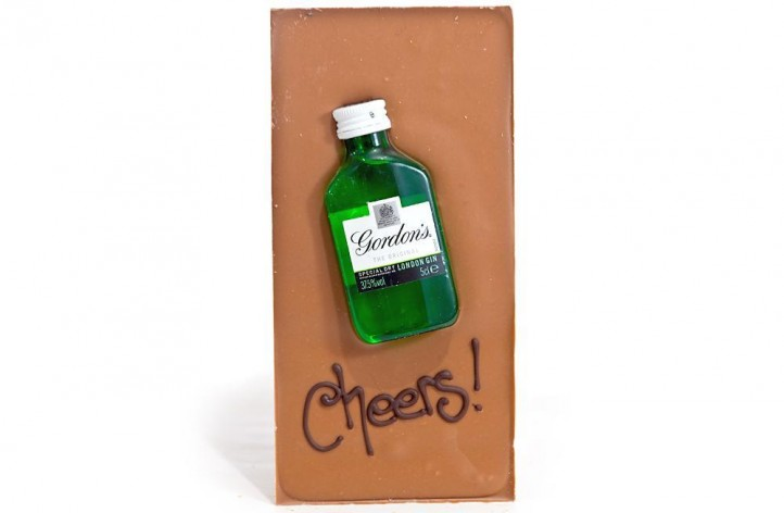Large Chocolate bar with Alcohol - Gordons Gin