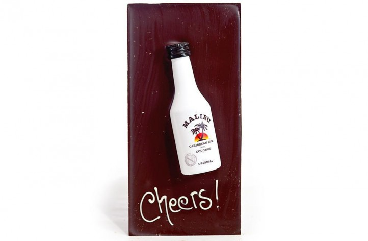 Large Chocolate bar with Alcohol - Malibu