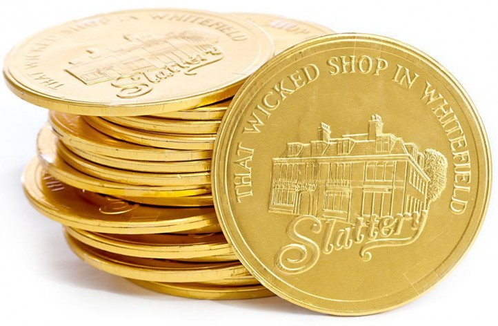 Large Slattery Chocolate Coin