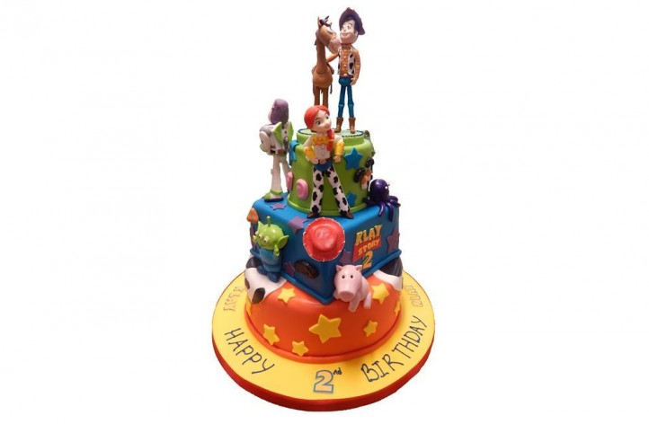 Large Tiered Toy Story Cake with Figures