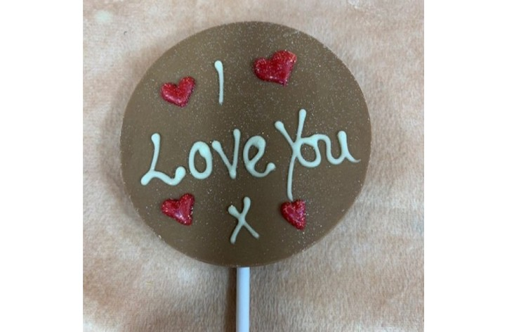 ADD ON ITEM - Small Love You Chocolate Lolly