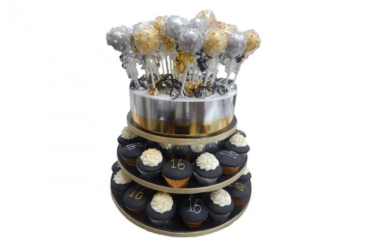 Metallic Cupcakes and Cakepops