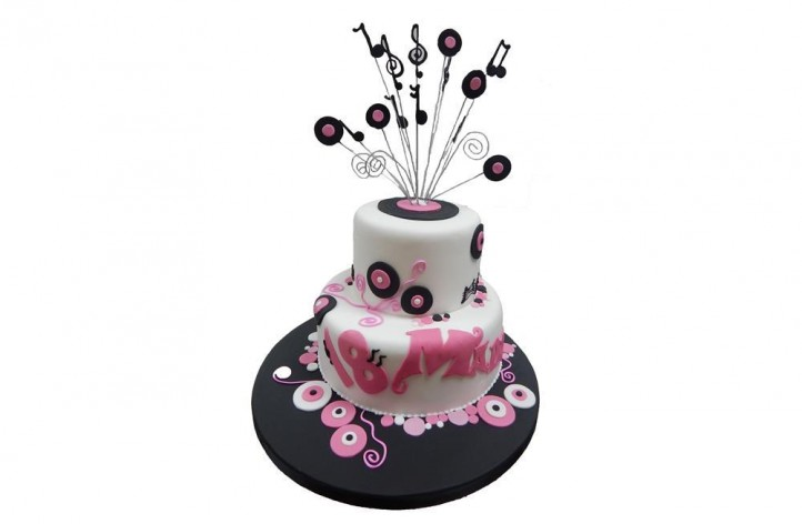 Music Themed Tiered Cake