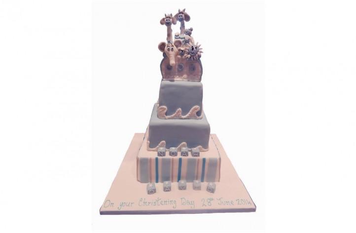 Noahs Ark Tiered Cake