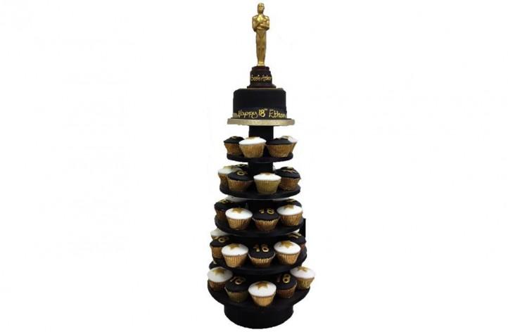 Oscar theme cupcakes