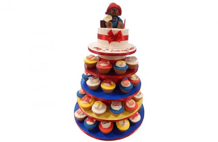 Paddington Bear Cake with Cupcakes
