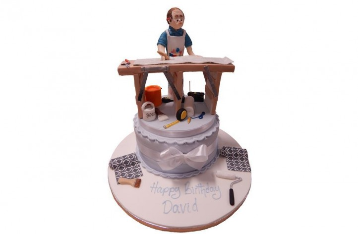 Cake Decorating Job In Uk : Painting & Decorating Cake