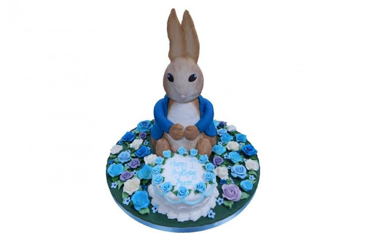 Peter Rabbit & Cake with Flowers