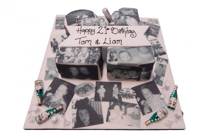 Photo Double Figure Cake