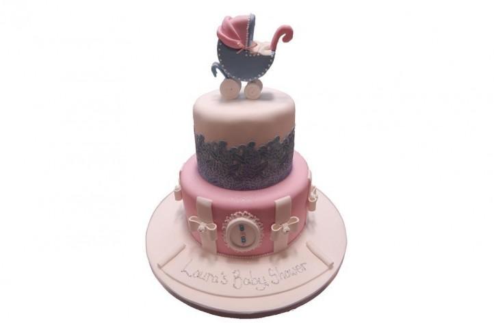 Pram & Lace Tiered Cake