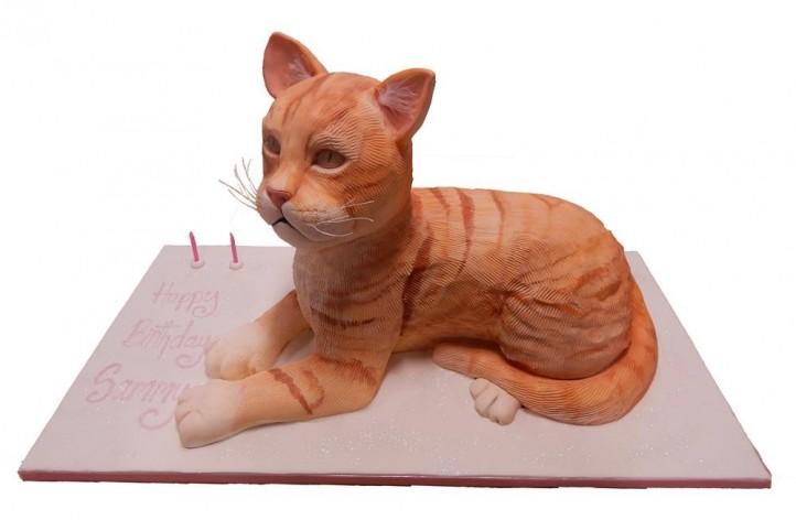 Realistic Cat Cake