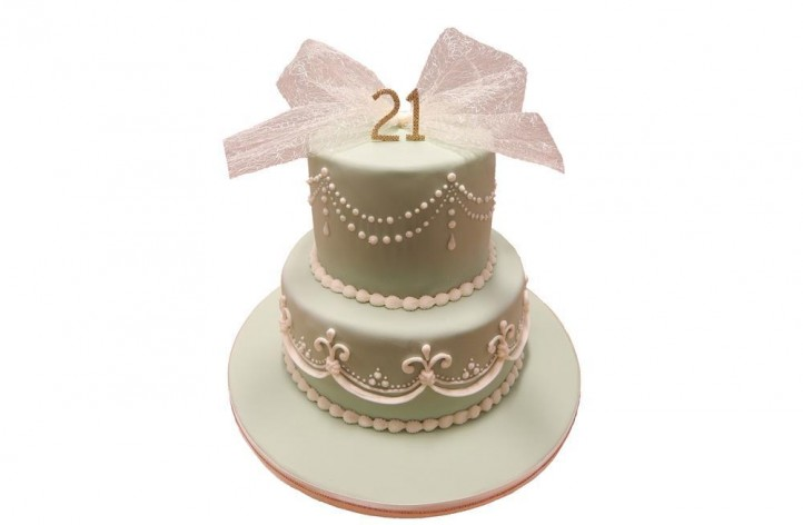 Royal Icing Style Tiered Cake
