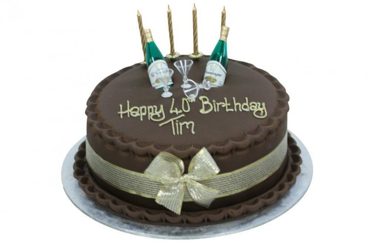 Simple Design with Miniature Champagne Bottle & Glasses