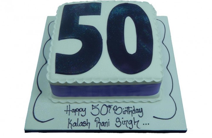 Simple Large Sugar Number Cake