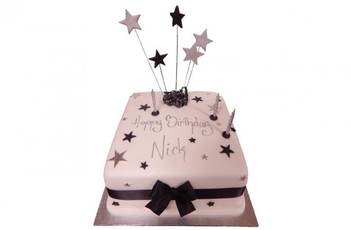 Simple with Stars Cake