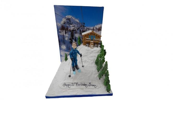 Ski Scene with Backdrop