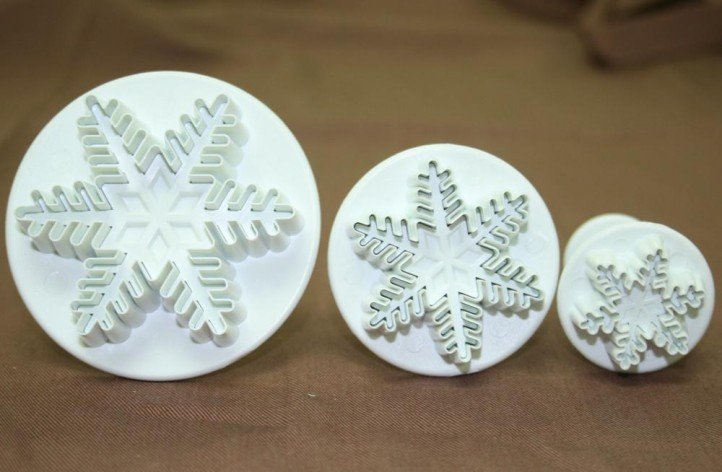 Snowflake Plunger Cutter (Set of 3)