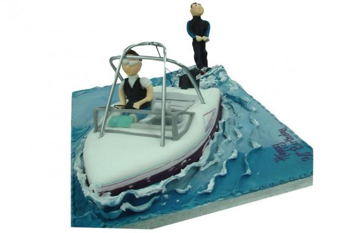 Speedboat & Figure - Water Skier