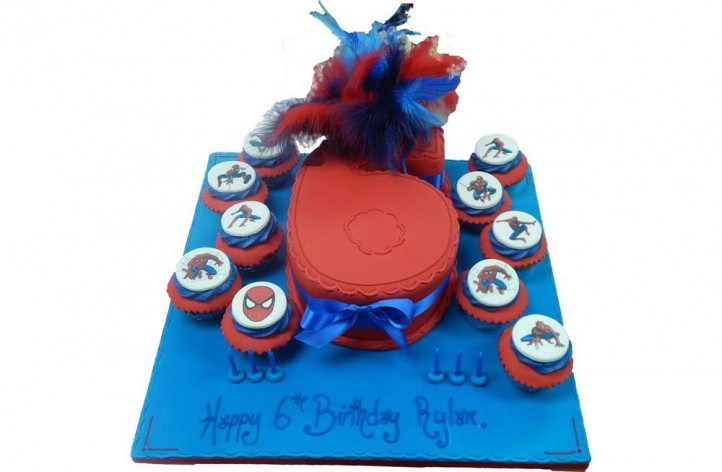 Spiderman Single Figure with Cupcakes