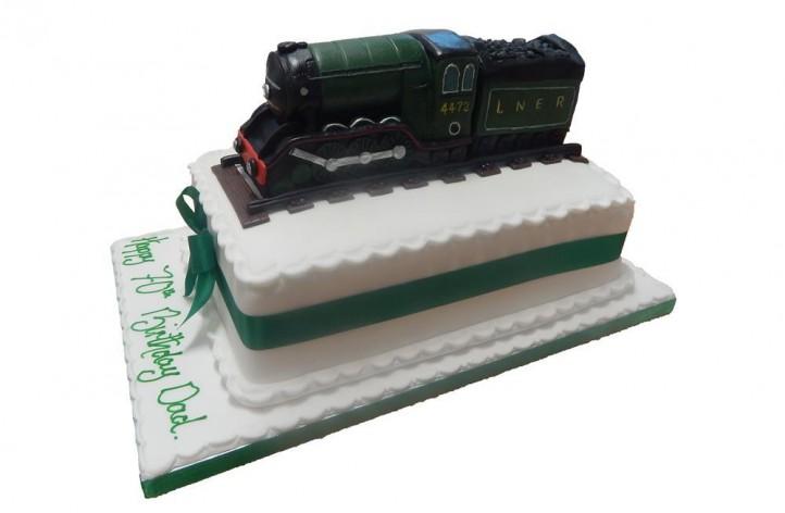 Steam Train Sugar Figure