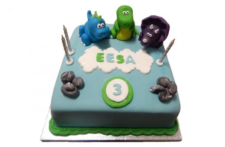 Sugar Dinosaur Cake