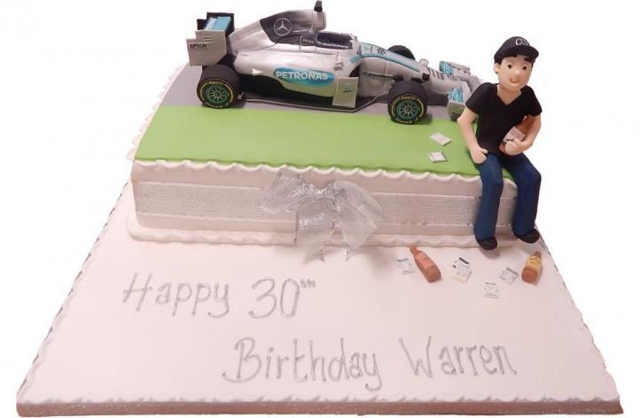 Sugar Racing Car & Figure Cake