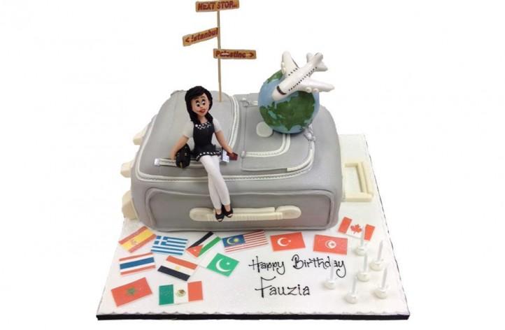 Suitcase & Figure Cake