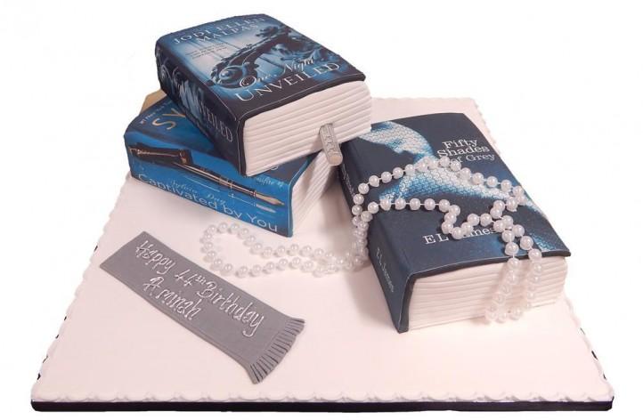 Three Tiered Books Cake